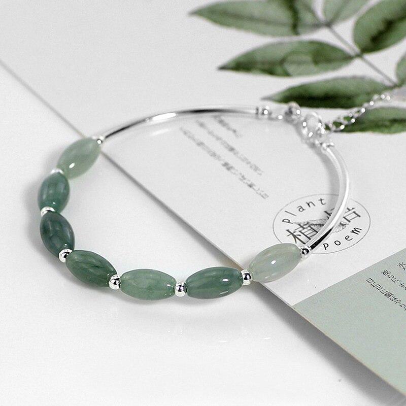 HTB1JHdgXPzuK1RjSspeq6ziHVXaS Ruifan 925 Sterling Silver Bracelets Ladies Natural Green Jade Oval Waterdrop Lucky Bead Charms Women's Bracelet Jewelry YBR098