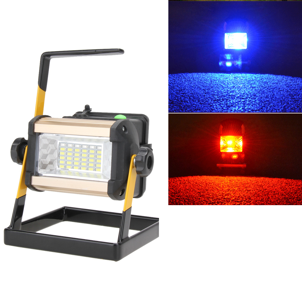 Rechargeable 50W 36LED Portable LED 2400LM Spotlight Flood Spot Work Light Outdoor Camping Lamps With Charger super 2017 new arrival 50w 36 led portable rechargeable flood light spot work camping fishing lamp dropshipping b35