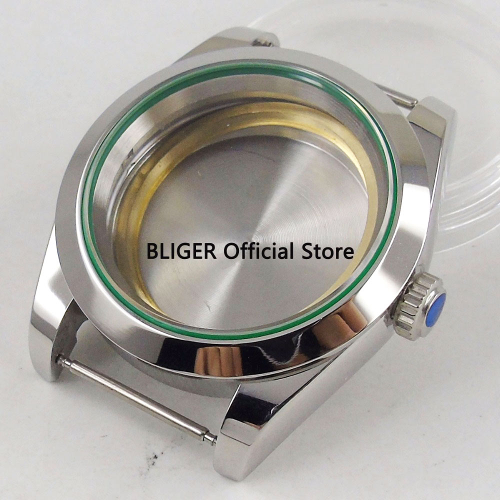 Polished 40mm 316L Stainless Steel Watch Case Sapphire Glass Suitable For ETA 2836 Miyota 8215 8205 Mingzhu 2813 MovementPolished 40mm 316L Stainless Steel Watch Case Sapphire Glass Suitable For ETA 2836 Miyota 8215 8205 Mingzhu 2813 Movement