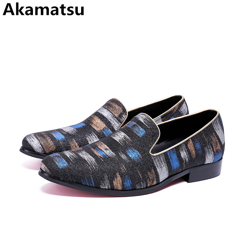 chaussures hommes print genuine leather round toe slip on loafers velvet slippers smoking office business men formal shoes pink snake print round toe slip on loafers