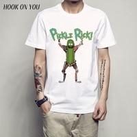 Cool Rick Morty Men T Shirt 2016 Summer Anime T Shirts Peace Among Worlds Folk White