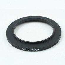 49 62mm 49mm à 62mm anneau adaptateur filtre en métal noir 49 62