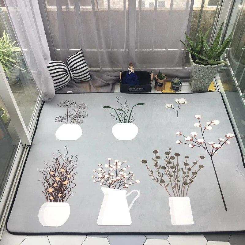 Маленький сад с цветочным рисунком ковер, 130*155 см большие размеры гостиной, журнальный столик, ковер, пастырской украшения дома коврик