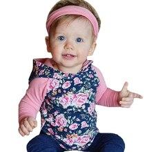 Baby Girl Floral Hooded Romper+Headband