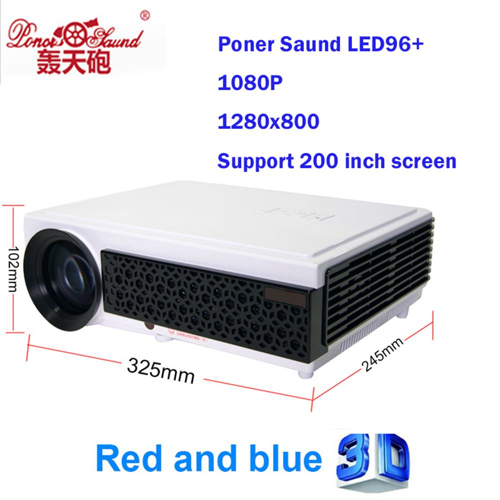Poner Saund Led Hd Projector 5500 Lumens Beamer 1080p Lcd: Poner Saund LED96+ Smart Build In Home Theater Projector