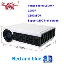 Poner Saund LED96+ Smart build-in home theater projector 5500lumens led lamp long life bluetooth DTV cinema projector