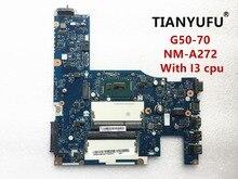 ACLU1/ACLU2 NM A272 Laptop Moederbord Voor Lenovo G50 70 Moederbord Nm a272 Met I3 Cpu Test 100% Werken