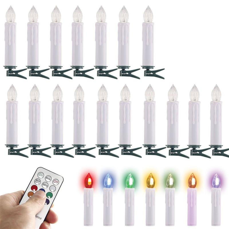 30pcs RGB Party Wedding Christmas Birthday Candle Led Lights Flameless Lamps+Wireless Remote Control 30pcs in one postcard take a walk on the go dubai arab emirates christmas postcards greeting birthday message cards 10 2x14 2cm