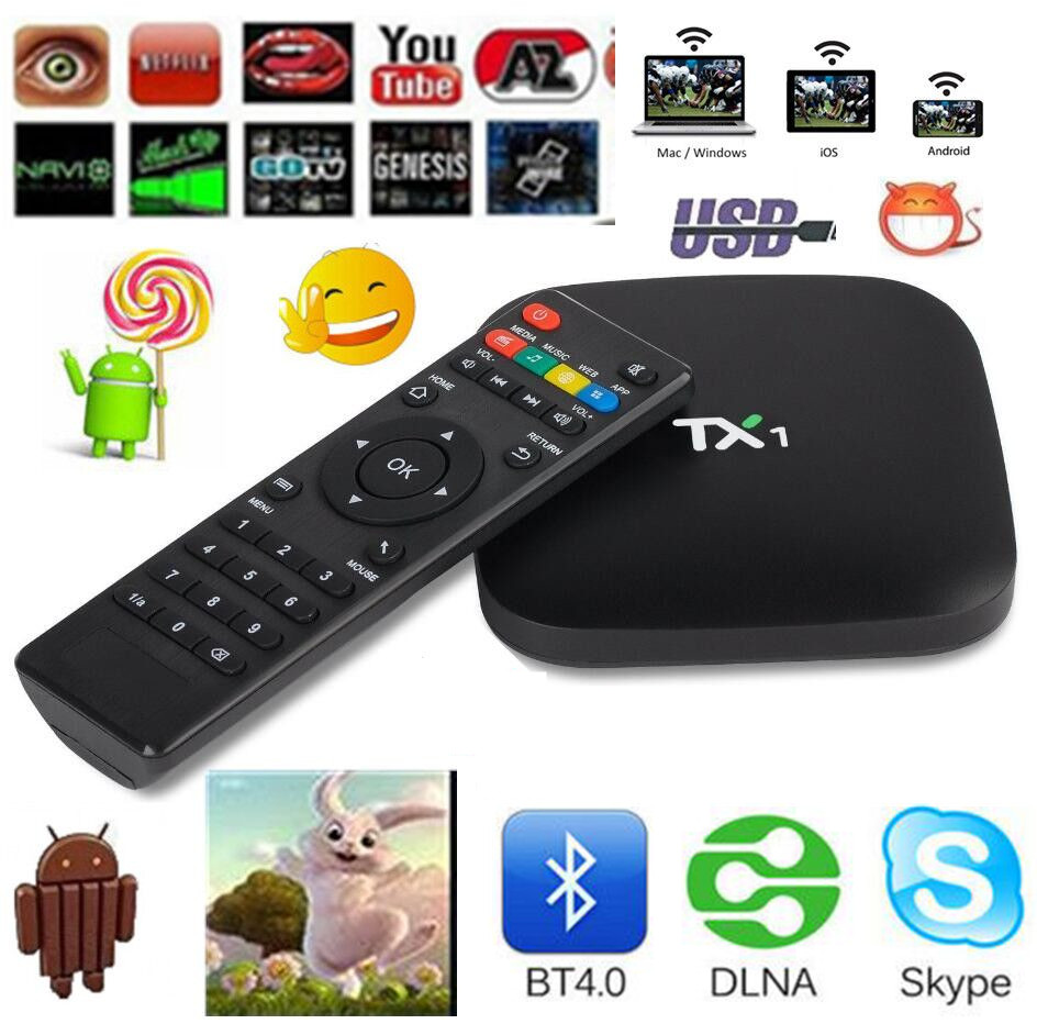 TX1 1G/8G Tv Box  Android 4.4.2 Quad Core  Amlogic S805 Latest 16.1 Fully Loaded WiFi Media Player Support Multiple Languages 2016 android tv box t10 smart mini pc amlogic s805 quad core 1g 8g 4k media player 3d home movie wifi kodi 16 0 fully loaded