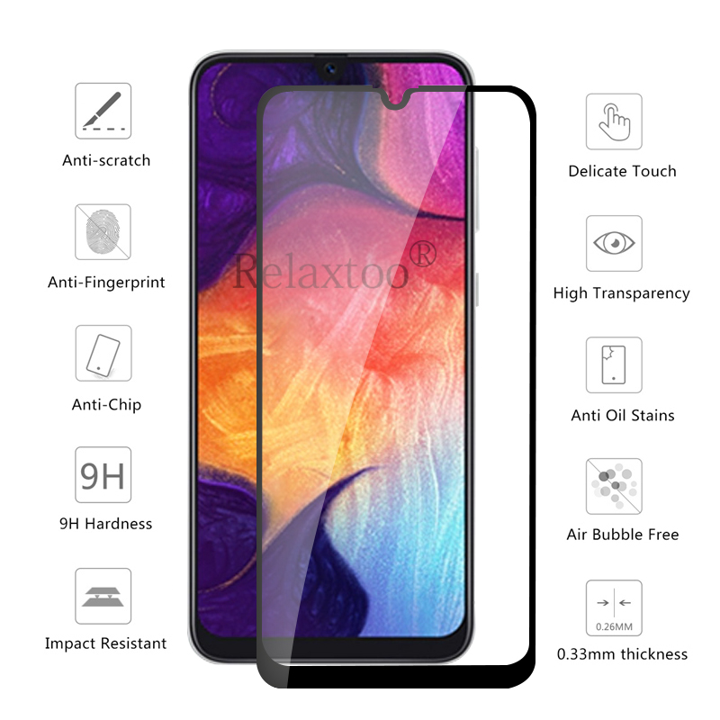 Image 2 - Protective Glass on the For Samsung Galaxy A50 A40 A30 A60 A70 2019 Screen Protector sumsung galax a 70 40 50 Tempered Glas Film-in Phone Screen Protectors from Cellphones & Telecommunications