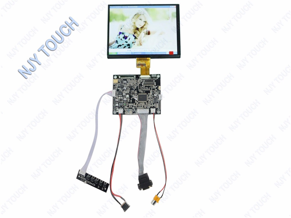 8inch HJ080IA-01B HJ080IA-01E 1024 x 768 IPS LCD Panel Plus VGA AV LCD Controller Board kit hdmi vga av audio usb control board 8inch hj080ia 01e 1024 768 ips lcd panel screen model lcd for raspberry pi