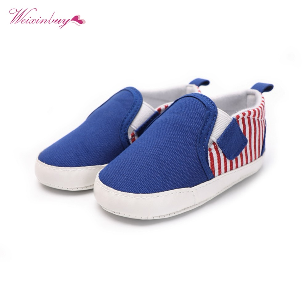WEIXINBUY Baby Boy Girl Shoes First Walkers 2018 New Fashion Casual Cotton Fabric Patch Anti-slip Soft Baby Toddler Shoes 0-18M