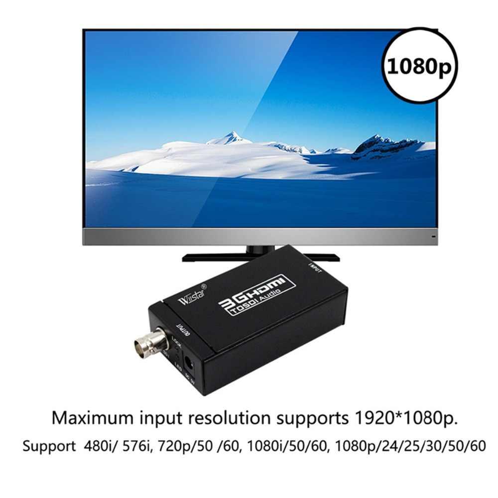 Mini 3G konwerter HDMI na SDI wspornik adaptera HD-SDI / 3G-SDI sygnały pokazano na HDMI wyświetlacz z mocy Adapter ue/usa