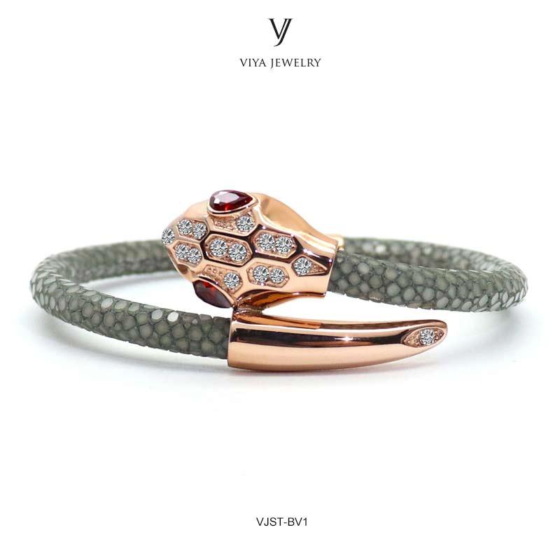 New Design Customized Colorful Stingray Snake Heads Women Men Bracelet Charms Snake Head & Smoky Grey Stingray Couple Bracelet цены