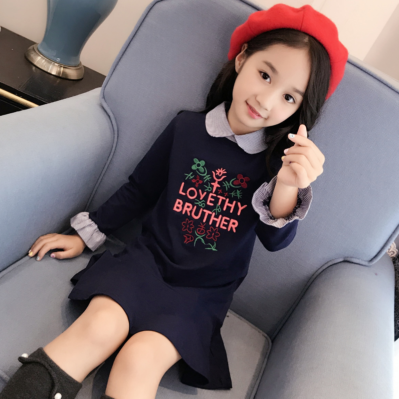 2017 autumn kids baby girls dress candy long sleeve and toddler girls clothing children princess dress