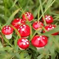 50 шт. 2 см/3 см искусственная маленькая красная фотография, искусственный сад, милые украшения, ставки для дома
