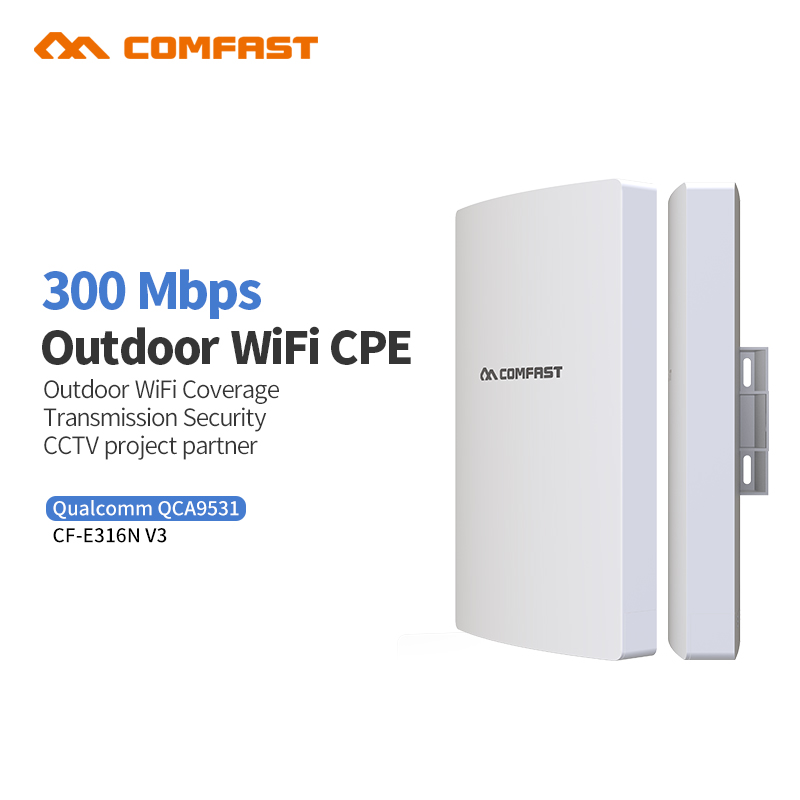 2018 Comfast Update CF-E316NV3 300Mbps Long Distance Outdoor Mimo Wireless Transmission and wifi Coverage CPE Router