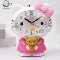 Cartoon Voice Will Talk Creative Noctilucent Mute Lovely Fashion Music Alarm Clock Kids Alarm Clock Luminous Alarm Clock