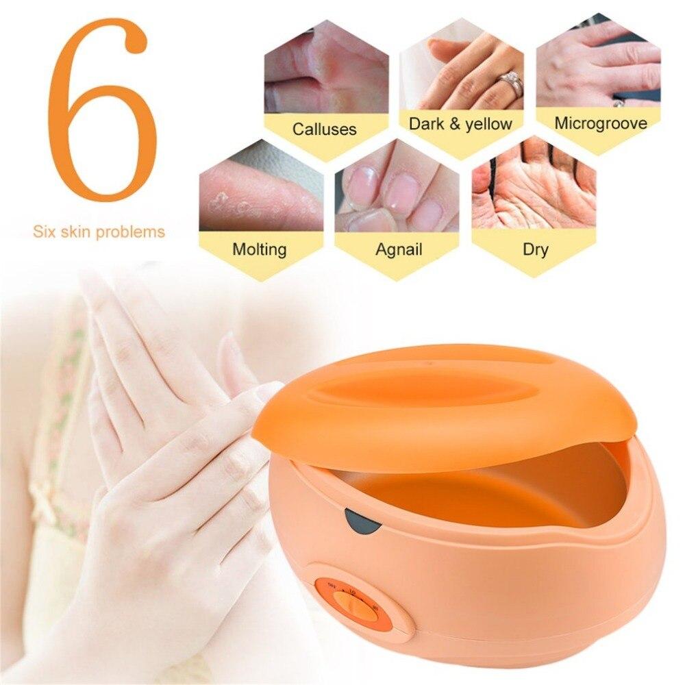 Parafina terapia banho pote de cera quente salão de beleza spa aquecedor de cera equipamentos keritherapy sistema recarregável depilatório corpo