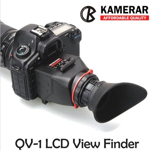 AUTENTICA KAMERAR QV-1 LCD MIRINO VIEW FINDER PER CANON 5D MarK III II 6D 7D 60D 70D, f Nikon D800...