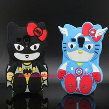 NEW 3D Silicon Hello Kitty Captain Batman Cartoon Soft Cell Phone Back Cover Case for Samsung Galaxy S3 MINI I8190