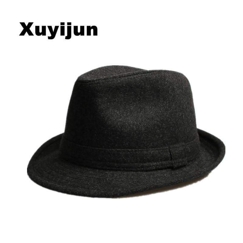 Xuyijun Original Unisex Structured Wool dad hats for men fedora felt hat  head size 58 cm Jazz hat Vintage Popular wool cap bones-in Fedoras from  Apparel ... ca05d0064bdb