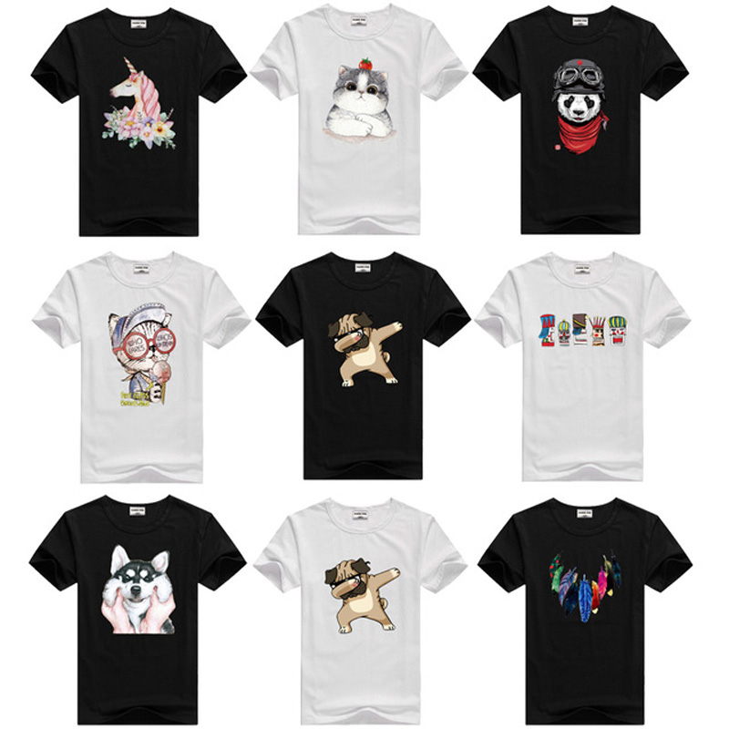 T-Shirt Kids Tops Short-Sleeve Black Toddler White Baby-Boy Cotton Child Summer for Girl