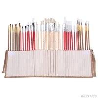 38Pcs Artists Paint Brushes Art Set For Acrylic Oil Watercolor 3 Style Portable #K918C#