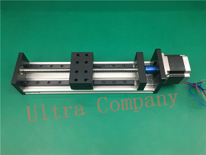 High Precision GX80*50 Ballscrew 1204 1000mm Effective Travel+ Nema 23 Stepper Motor CNC Stage Linear Motion Moulde Linear high precision gx80 50 ballscrew 1204 1300mm effective travel nema 23 stepper motor cnc stage linear motion moulde linear