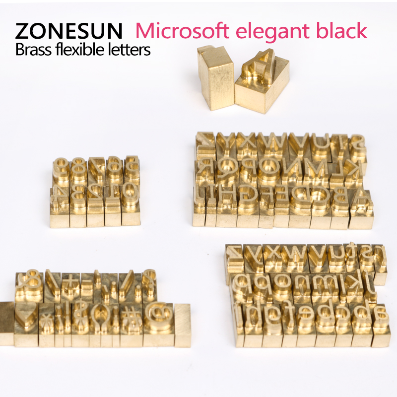 ZONESUN Brass Letters CNC Engraving Mold Whole Set and Extra Letter household product plastic dustbin mold makers