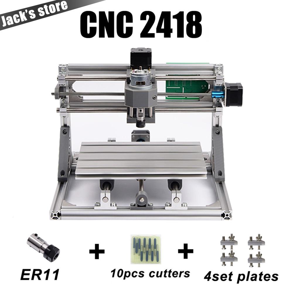 Cnc 2418 2500mw Laser Cnc Engraving Machine Pcb Milling Machine Wood Carving Machine Diy Mini Cnc
