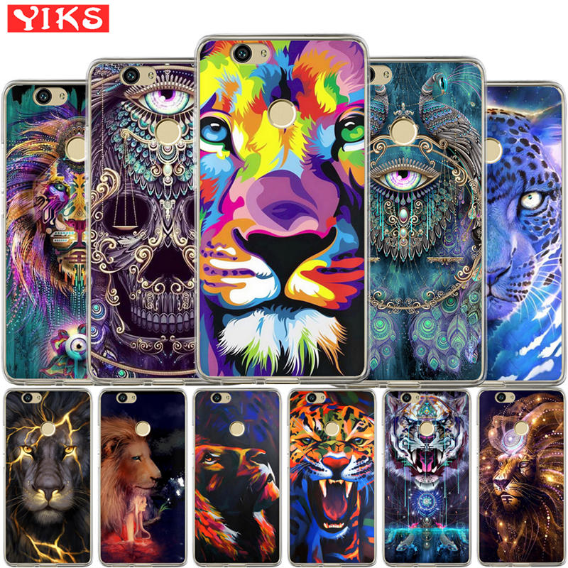 Starry lion tiger For Huawei Nova 2 plus Nova 3E Cover For Huawei Y3 Y5 Y6 II 2  Y3 Y7 2017 Y6 Pro