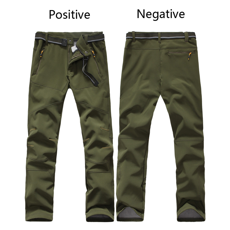 Outdoor Hiking Pants for Men Women Breathable Windproof Autumn Winter Trekking Sport Pants Softshell Velvet Thick Warm Trousers in Hiking Pants from Sports Entertainment