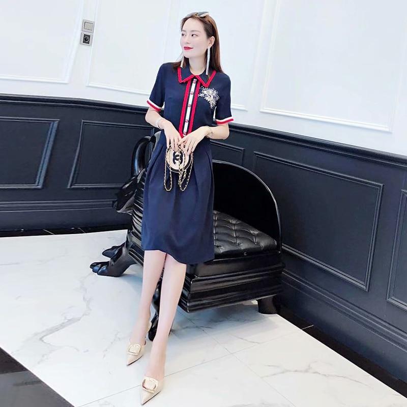 Milan Runway projektant wysokiej jakości 2019 lato nowa moda damska Party pracy Sexy rocznika elegancki szyk plisowana sukienka w Suknie od Odzież damska na AliExpress - 11.11_Double 11Singles' Day 1