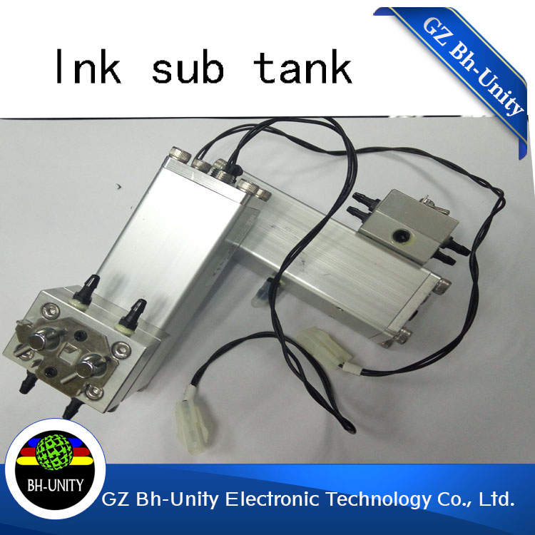 New Version Inkjet Printer Dedicated Sub Tank Ink Tank Ink Box for Flora/polaris printing machine large format printer parts 55ml aluminium sub tank printer part