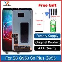 100 Original Super Amoled LCD Screen For Samsung Galaxy S8 Display G950 S8 S8 Plus G955