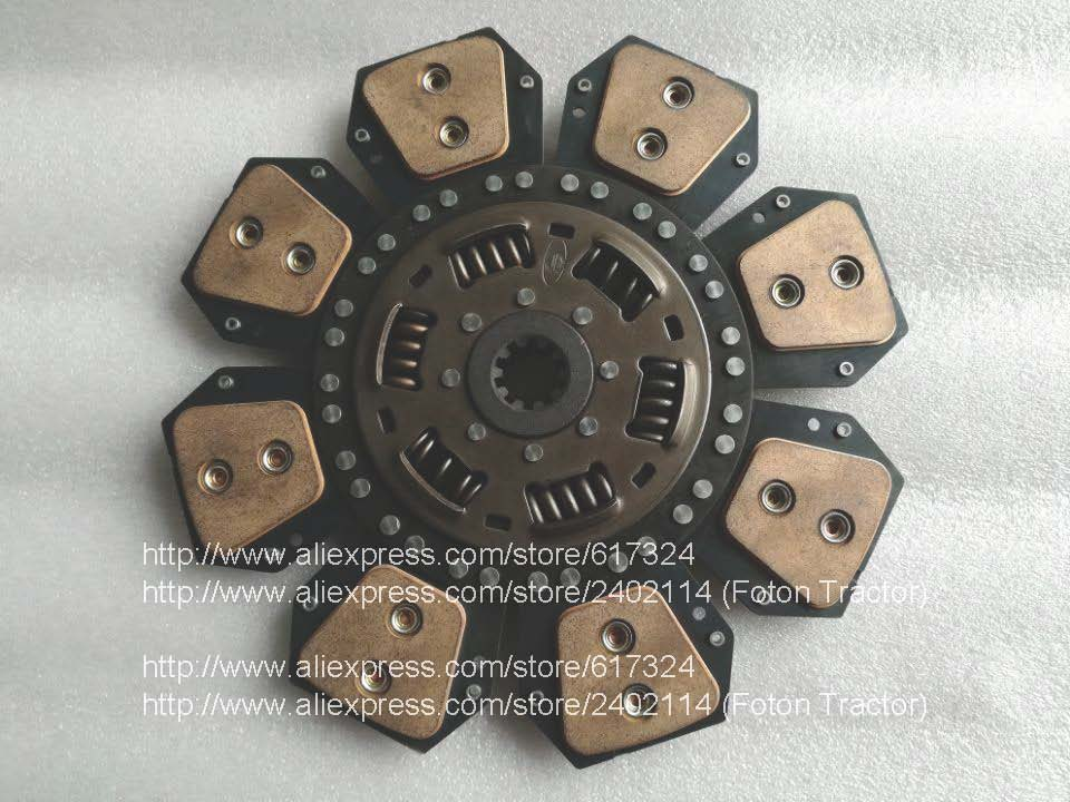 Foton lovol tractor parts, the clutch disc, part number: PTA750.211.200 (same as PTA750.21.200) ,diameter 310mm, 10 splines б у foton bj1049