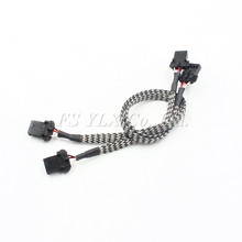 10pcs HID Xenon D1S D1R D1C D3S D3R D3C Bulb Shielded Wire Harness Power Adaptor Cable Cord connector D1 D3 Shielded wire