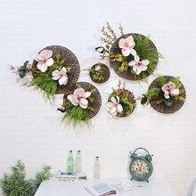 дешево!  Искусственные цветы Свадебные украшения для дома DIY Настенные украшения Фото Фон Зеленый