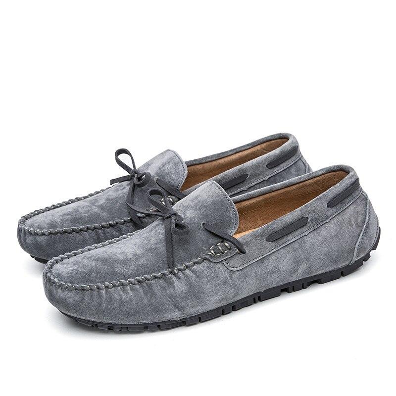 Luxo Italiana Camurça Dirigindo Designer Mocassins Sapatos Gray Loafers De Lace black brown Couro Casuais Marca red Moda Homens Jkpudun Up PCqf8wf