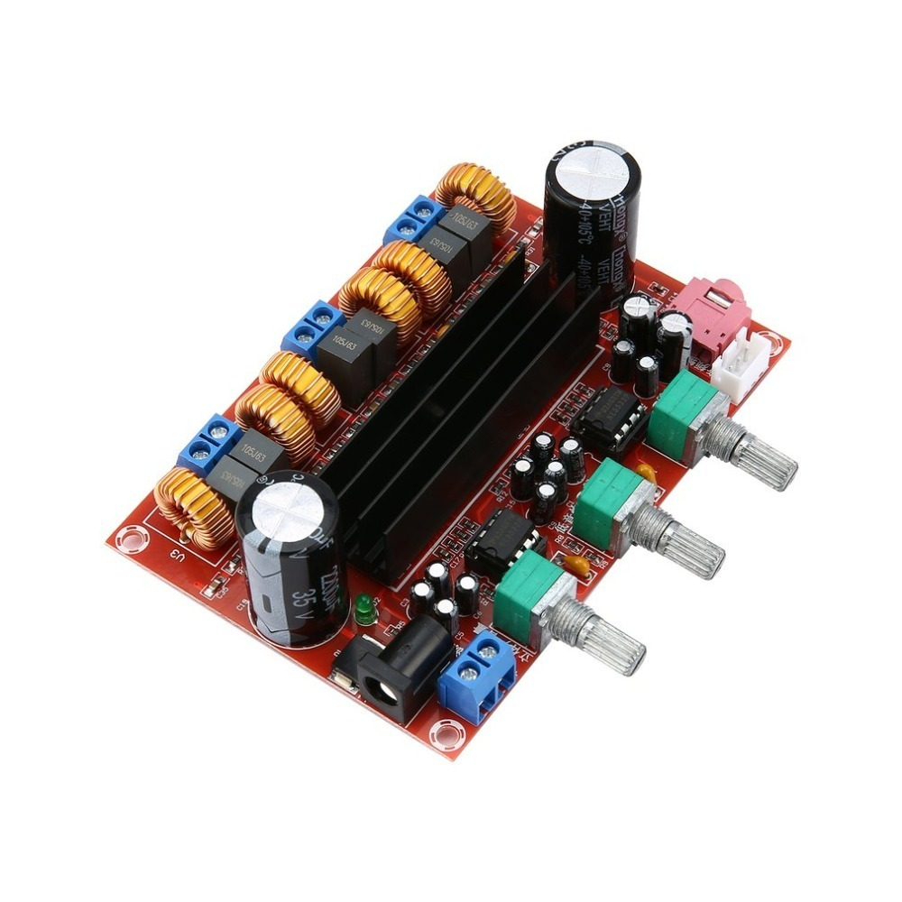 New Version High power Amplifiers Dual Chip TPA3116D2 50Wx2 + 100W 2.1 Path Digital Subwoofer Power Amplifier Board