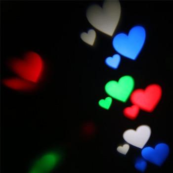 ZjRight Nouveau Laser RGBW Lumières De Scène Auto Rotatif Amour/étoile Lampe Disco DJ Led Fête Lumières De Noël En Plein Air Jardin Fée Lumières