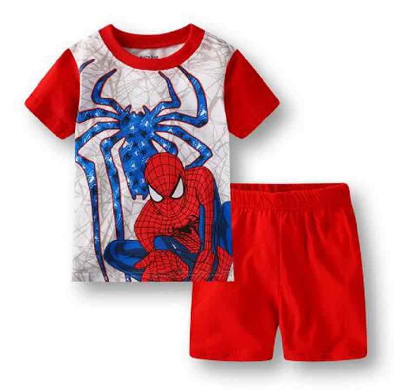 Sommer Baby Jungen Gilrs Nachtwäsche Kurzarm Pijamas Kinder Pyjamas Sets Baumwolle Kostüm Kinder Nachthemd Kleidung Pyjamas