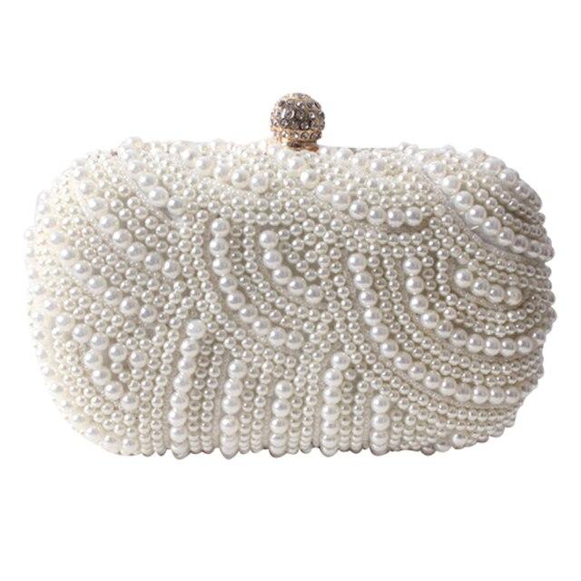 Evening Bags Women Clutch Bag Ladies Wedding Bridal Handbag Pearl Beaded Diamond Day Cluthes Crystal Purse Party Wedding