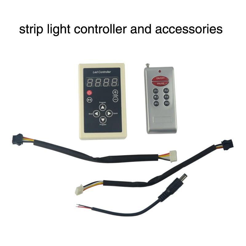 Power A-5050 RGB Dream Color 6803 IC LED Strip IC6803 RF Remote Controll