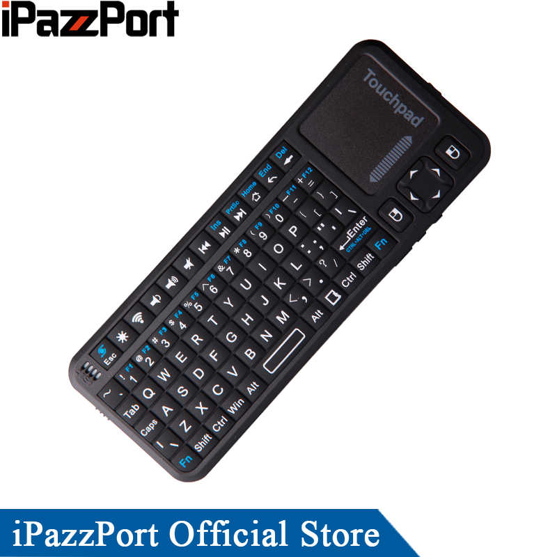IPazzPort Mini Bluetooth Wireless Keyboard Air Mouse met TouchPad voor iPad/Android Tablet/laptop/notebook/Mini PC