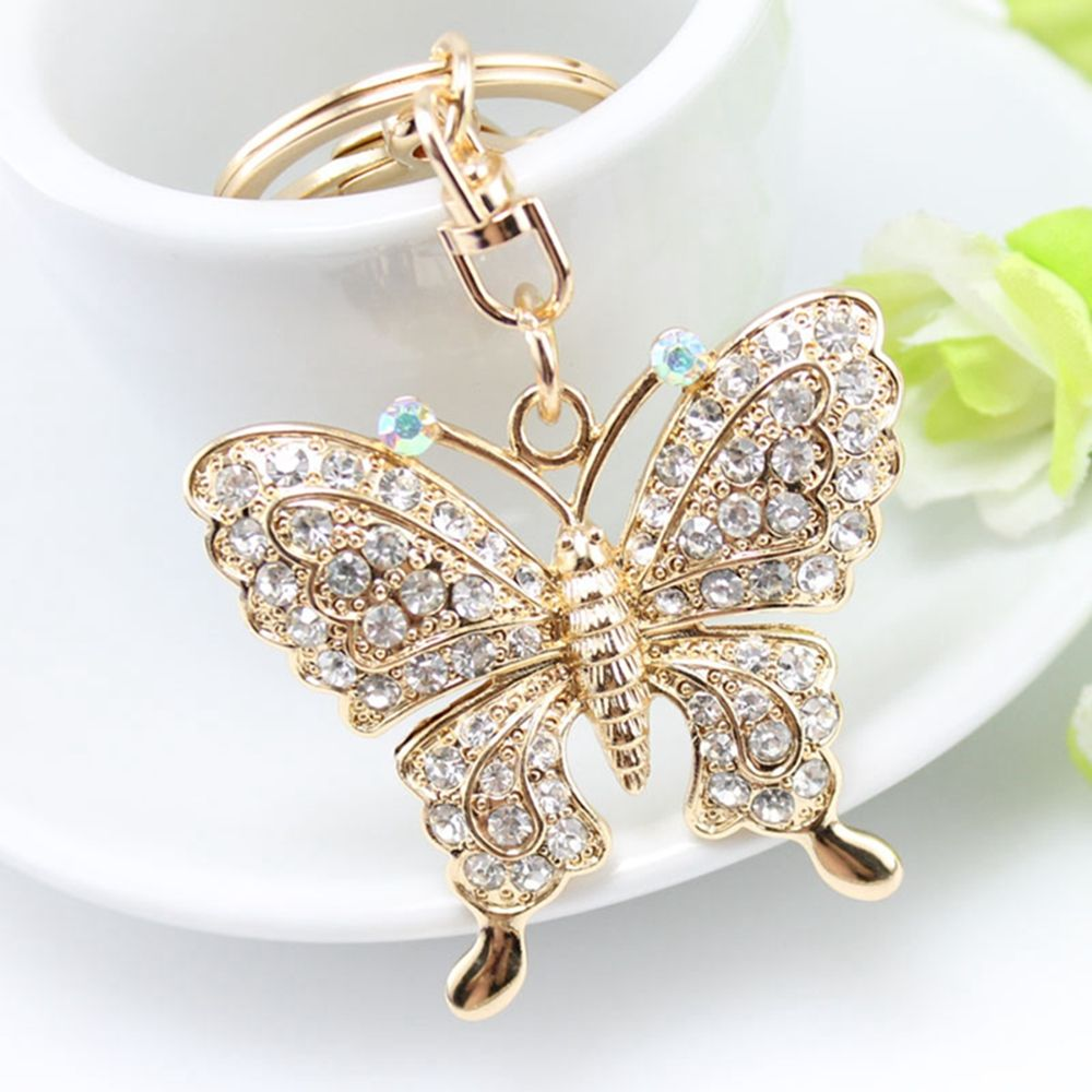 Us 1 54 14 Off 1pc Rhinestone Crystal Erfly Owl Pea Keychain Car Pendant Handbag Jewelry In Key Chains From Accessories On