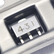 100 ШТ./ЛОТ Пьезоэлектрический регулятор транзистор TL431 431 SOT89 регулятор трубка