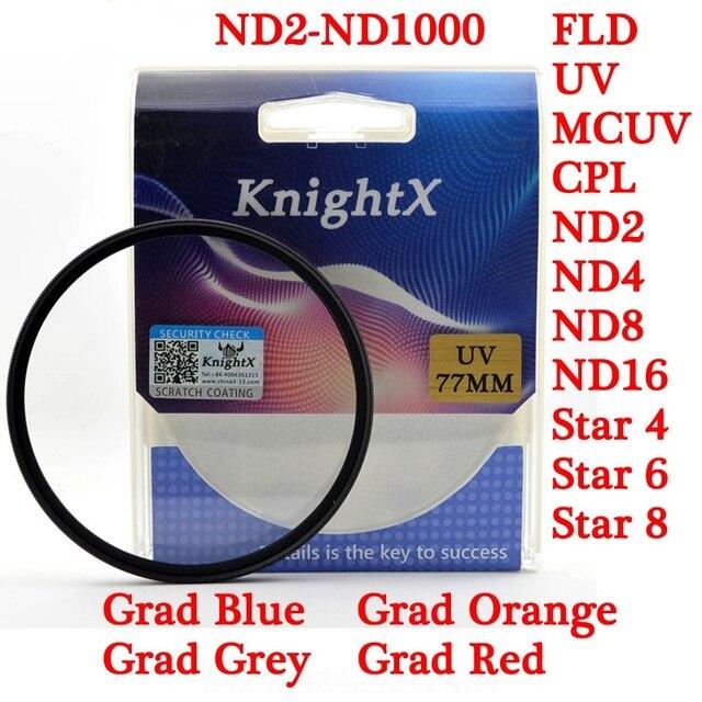 KnightX 49 52 55 58 62 67 72 77 UV SAO ND lọc món ăn vải Cho nikon canon go pro canon 550d lente canon d7200 ống kính 700d d3200