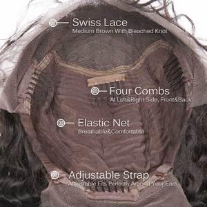Image 4 - Encaracolado bob peruca frente do laço perucas de cabelo humano m com o cabelo do bebê brasileiro remy cabelo curto encaracolado bob perucas para as mulheres pré arrancadas peruca
